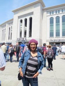Munira at Yankee Stadium