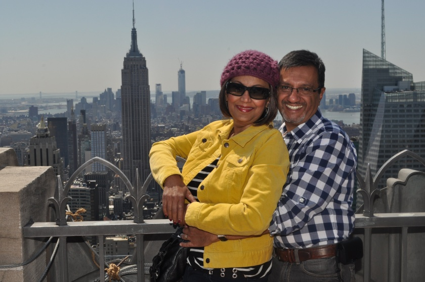 Top of the Observation Deck at the Rockefeller Center, New York