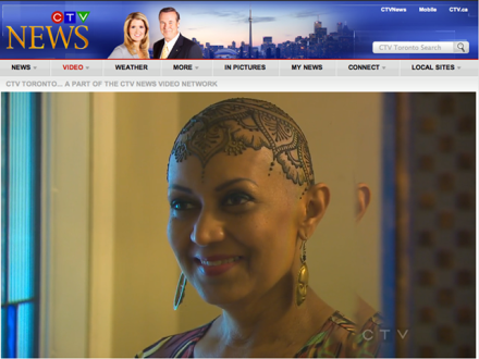 Munira in CTV News Toronto's Lifetime segment, June 5, 2013