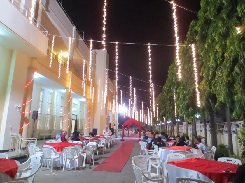 New Year's Eve party at Makupa Jamatkhana, Mombasa, Kenya