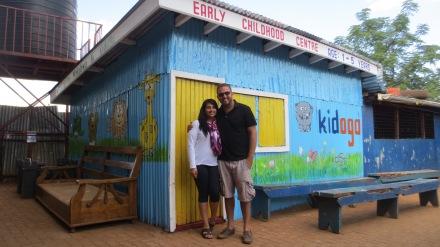 Sabrina and Afzal at their newest Kidogo location in Kangemi.