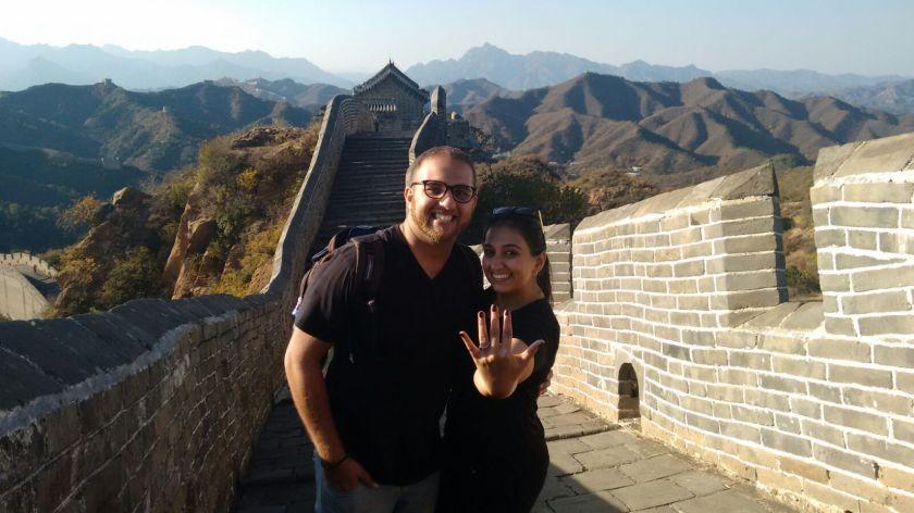 Afzal and Sabrina at The Great Wall of China October 23, 2015