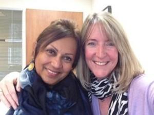 Munira with Isabelle Aubin